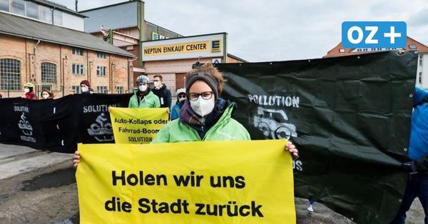 Protest: Rostocker Radfahrer sperren Werftstraße – das kritisieren sie