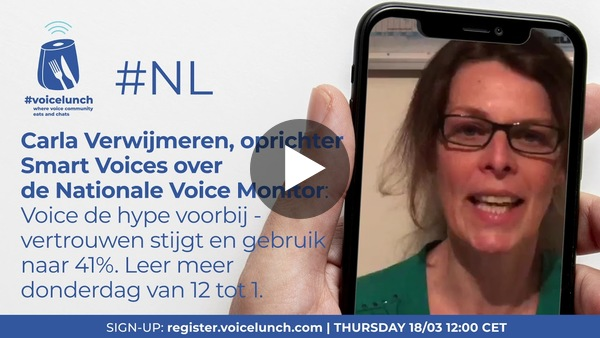 Voicelunch NL over de Nationale Voice Monitor