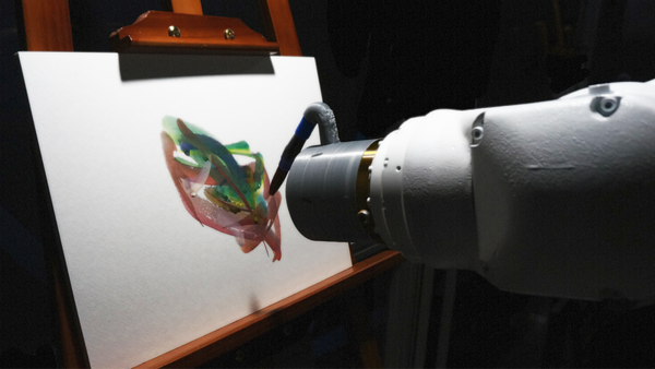 This AI Robot Will Paint A Canvas At SXSW 2021