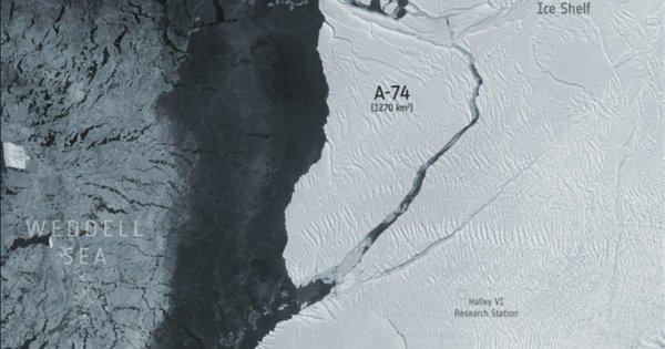 Un iceberg del doble de superficie que Madrid se desprende de la Antártida