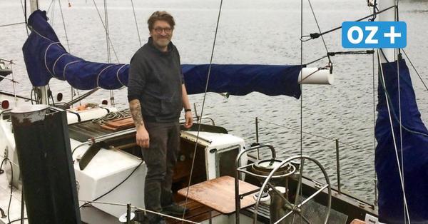 Zuhause an Bord: Rostocker lebt auf seinem Segelboot im Stadthafen