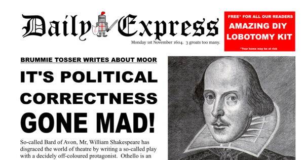 """The Daily Express invents the """"PC gone mad"""" headline in 1604"""