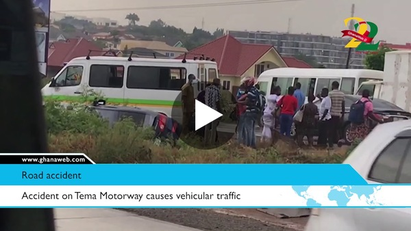 GhanaWeb Road Safety: Accident on Tema Motorway causes vehicular traffic