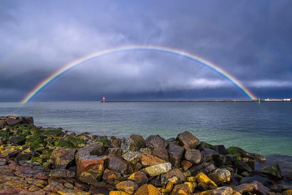Regenbogen in Warnemünde (Foto: Christian Alexander Schulz)