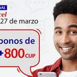 Super promoción de Cubacel con 1GB de internet y 800 CUP de bono