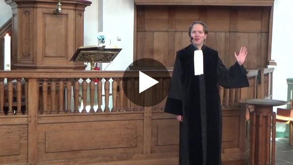 WOUBRUGGE - Online kinderdienst 14 maart - Voorganger Ds. Stefan Honing stond op de stoep in de poep (video)