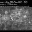 Milky Way, 12 years, 1250 hours of exposures & 125 x 22 degrees of sky
