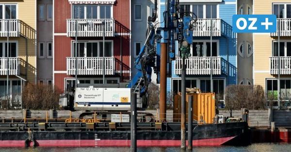 Pflaster statt Holzweg am Yachthafen Greifswald