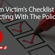 A Scam Victim's Checklist – Interacting With The Police