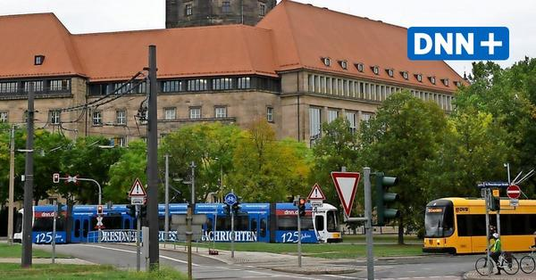 Georgplatz in Dresdner Innenstadt am Sonntag für Straßenbahnen gesperrt