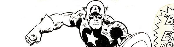 Trimpe/Romita - Captain America Original Cover Art