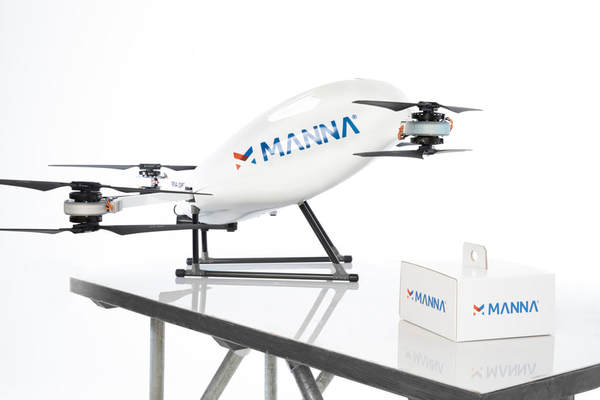 Manna Now Doing 50 – 100 Drone Deliveries Per Day in Galway, Ireland