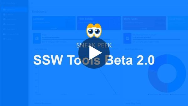 SSW Tools Beta 2.0 - Video Sneak Peek
