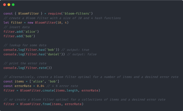 The bloom-filters module