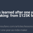 One year indie making: from $125K to $164