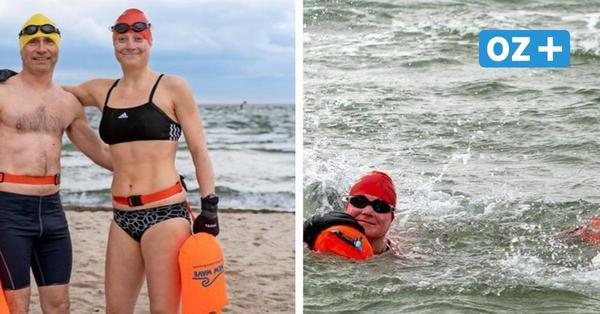 Extremsport: Rostocker schwimmen täglich bis zu 40 Minuten in der Ostsee