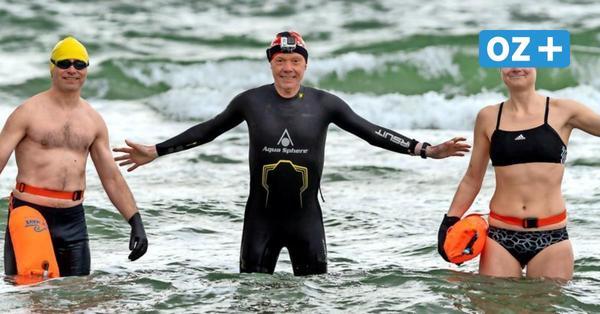 Eisschwimmen in der Ostsee: OZ-Reporter Michael Meyer hat's versucht