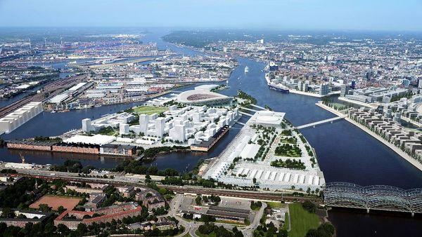 Quand Hambourg s'imaginait accueillir les JO 2024 : au centre, le stade olympique