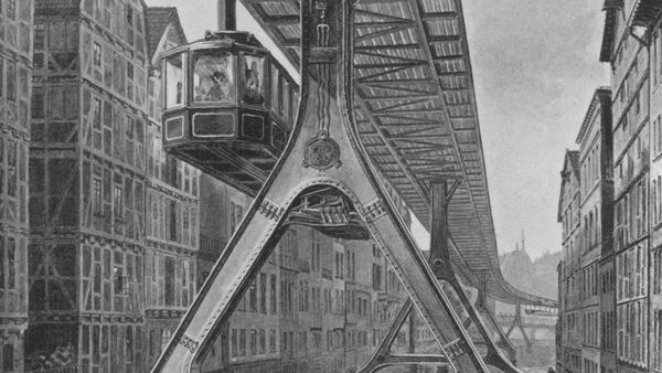 Au tournant du XXe siècle, un projet de métro suspendu est discuté à Hambourg