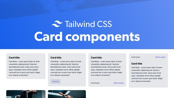 Tailwind CSS card components