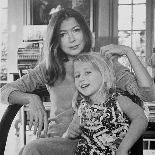 Joan Didion and her daughter Quintana Roo Dunne, photographed for Life Magazine in 1972 by Julian Wasser.