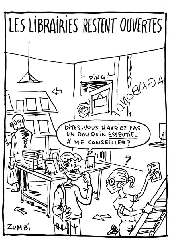 Caricature de Zombi pour le webzine BD & caricature Zébra.