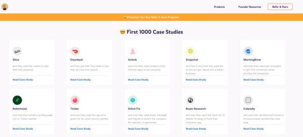 First 1000 geeft je inzicht in verhalen over de eerste 1.000 gebruikers van een startup.