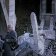 Voladura en 1973 de los restos del puente de la Degollada en Toledo tras su hundimiento