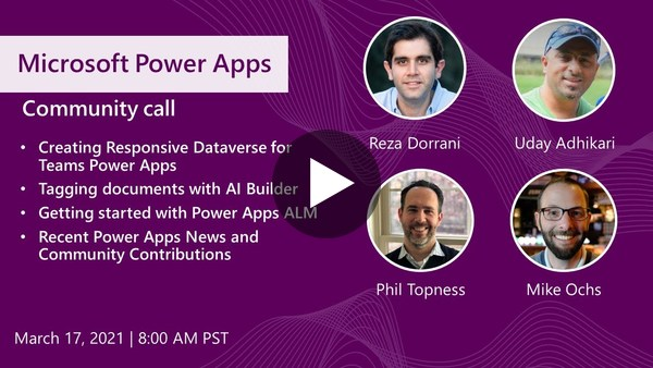 Power Apps community call - March 2021