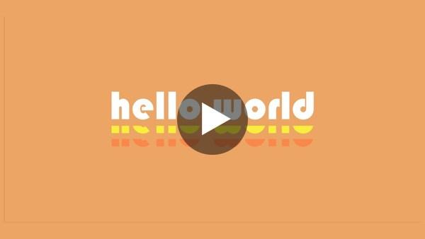 Hello World: Friday, March 19, 2021