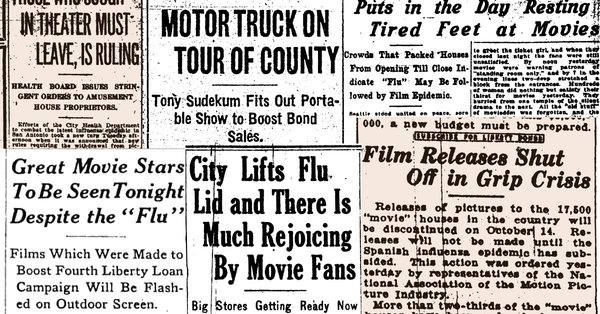 People Longing for Movie Theaters During the 1918 Flu Pandemic Feels Very Familiar in 2021