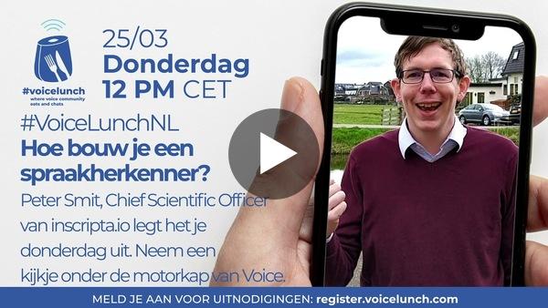 Voicelunch NL: Hoe bouw je een spraakherkenner?