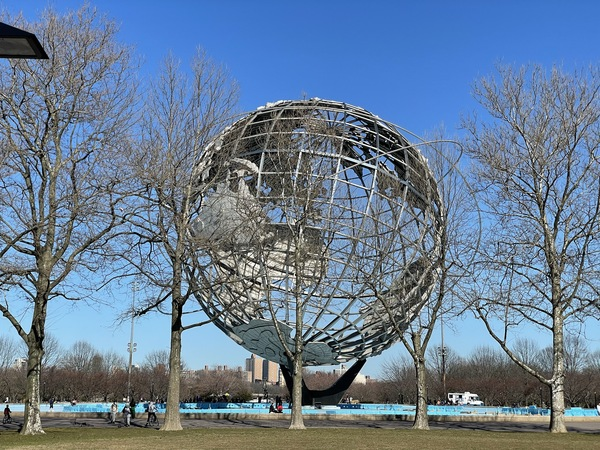 Visited the site of the 1964 World's Fair. The Unisphere is a remaining artifact