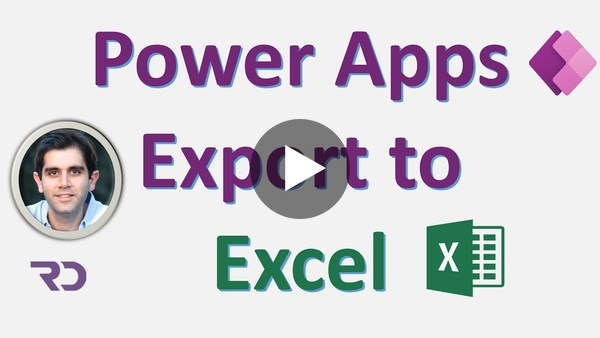 Export Power Apps data to Excel in CSV format
