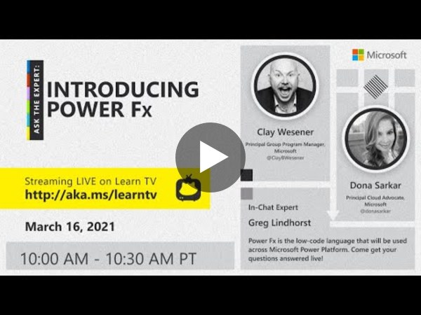 Ask the Expert: Introducing Power Fx