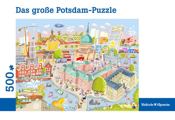 Jörg Hafemeister hat das Motiv des Potsdam-Puzzles entworfen.