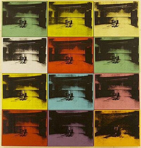 Andy Warhol, Electric Chair, screen print, 1971.