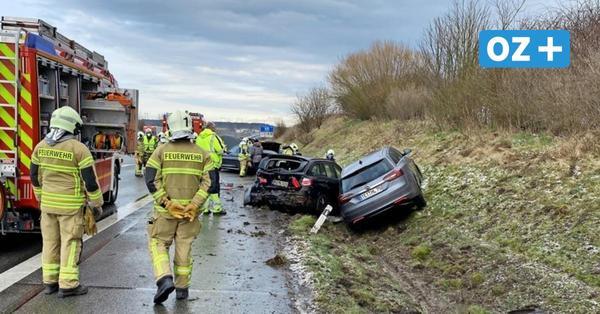 Plötzlicher Hagelschauer: Vollsperrung auf A20 nach schwerem Unfall aufgehoben