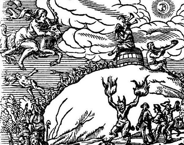 Diese Darstellung zeigt einen Hexenritt zum Blocksberg. (Handout: Historischer Verein)