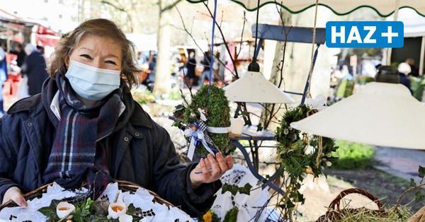 Marktfrau Elke Greinke trotzt der Corona-Krise