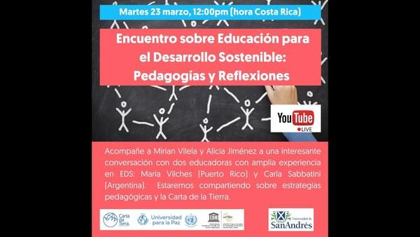 Webinar recording, education: encuentro sobre educación para el desarrollo sostenible, pedagogías y reflexiones