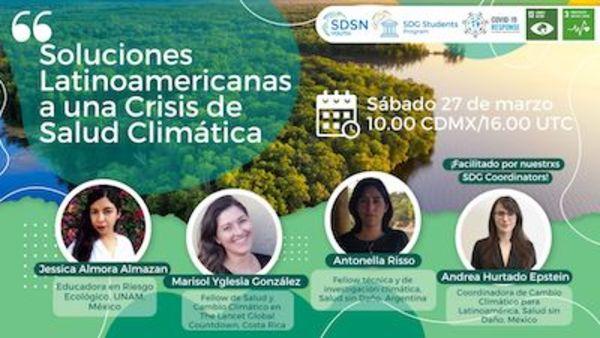 Upcoming event, health: soluciones latinoamericanas a una crisis de salud climática.