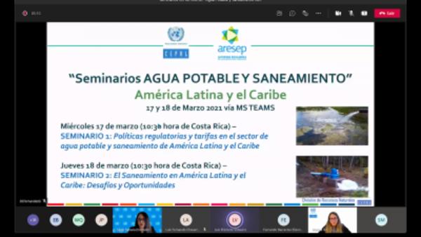 Virtual seminars, water: agua potable y saneamiento en América Latina y el Caribe