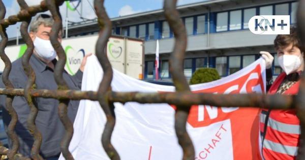 Gewerkschaft NGG informierte Arbeiter beim Schlachthof Vion Bad Bramstedt