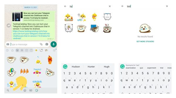 WhatsApp released sticker search functionality to everyone