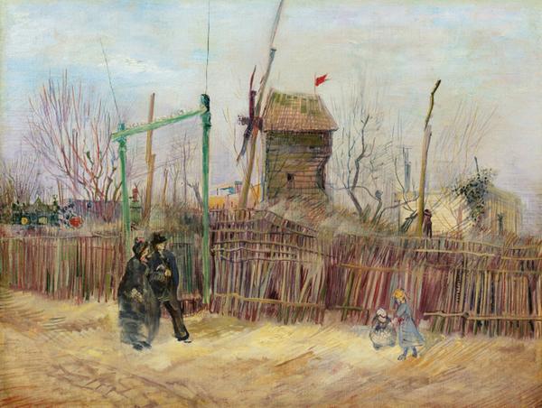 Rue de Montmartre peinte par Van Gogh.