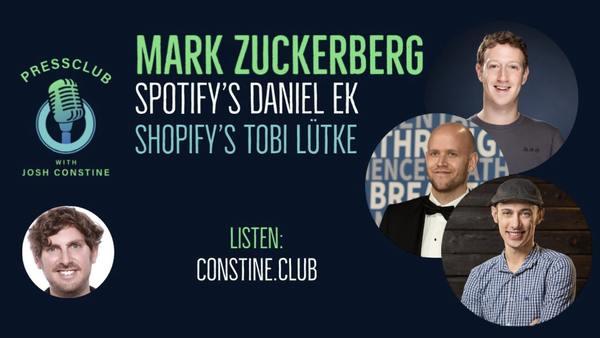 Clubhouse with Mark Zuckerberg, Daniel Ek, Tobi Lütke