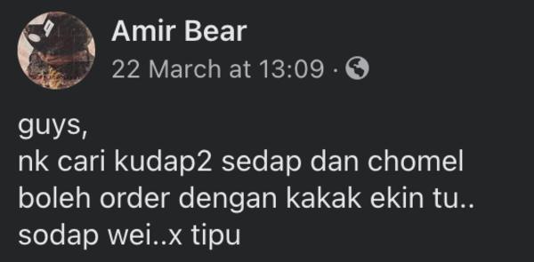 Terima kasih Amir Bear & kawan2 ku -  melalui facebook