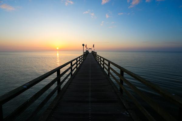 Natur pur: So schön war der Sonnenaufgang in diesen Tagen in Haffkrug.