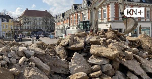 Marktplatz Bad Segeberg wird barrierefrei - Umbau hat begonnen
